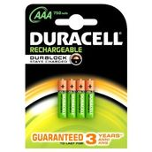 Duracell AAA Rechargeable 750mAh -  - 5000394090231 - 1