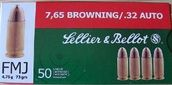 Sellier & Bellot 7,65 Browning/.32 Auto -  - 8590690310234 - 1