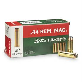 Sellier & Bellot .44 Rem.Mag. SP 15,55g -  - 8590690311408 - 1