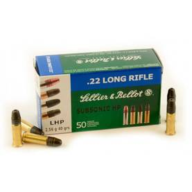 Sellier&Bellot .22LR Subsonic HP 2,56g -  - 8590690355259 - 1